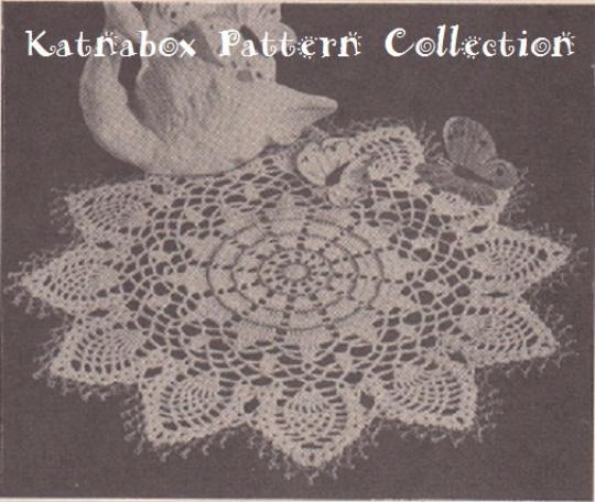 Crochet Star Pineapple Doily Pattern Kc0695 Advanced Skill Level