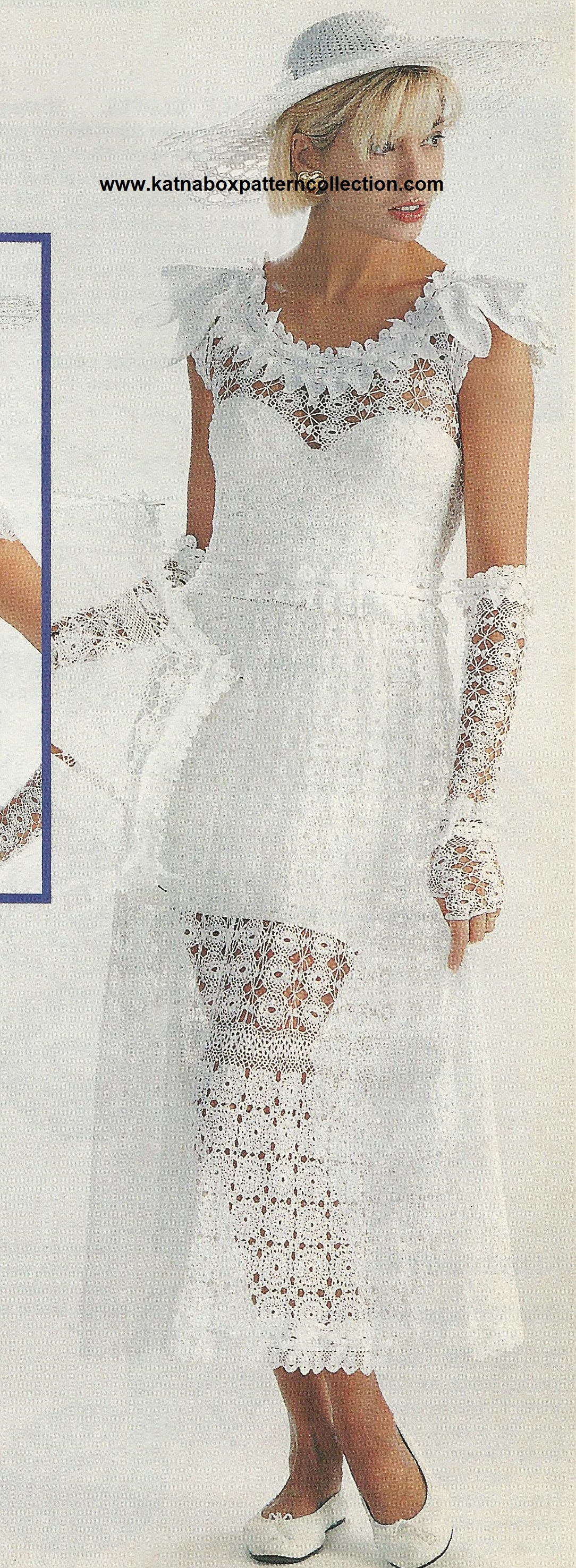 Crochet Wedding Dress Pattern.Crochet Bridal Dress Accessories Pattern Set Kc1504 Challenging Skill Level Crochet Pdf Pattern