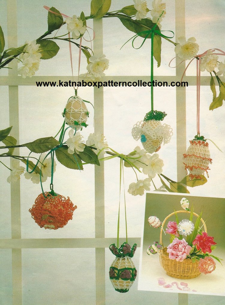 Crochet Easter Eggs Decorations Pattern Kc1521 Easy Skill Level