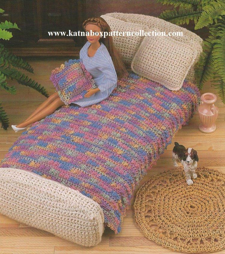 Crochet Fashion Doll Furniture Fashion Doll Bedroom Pattern