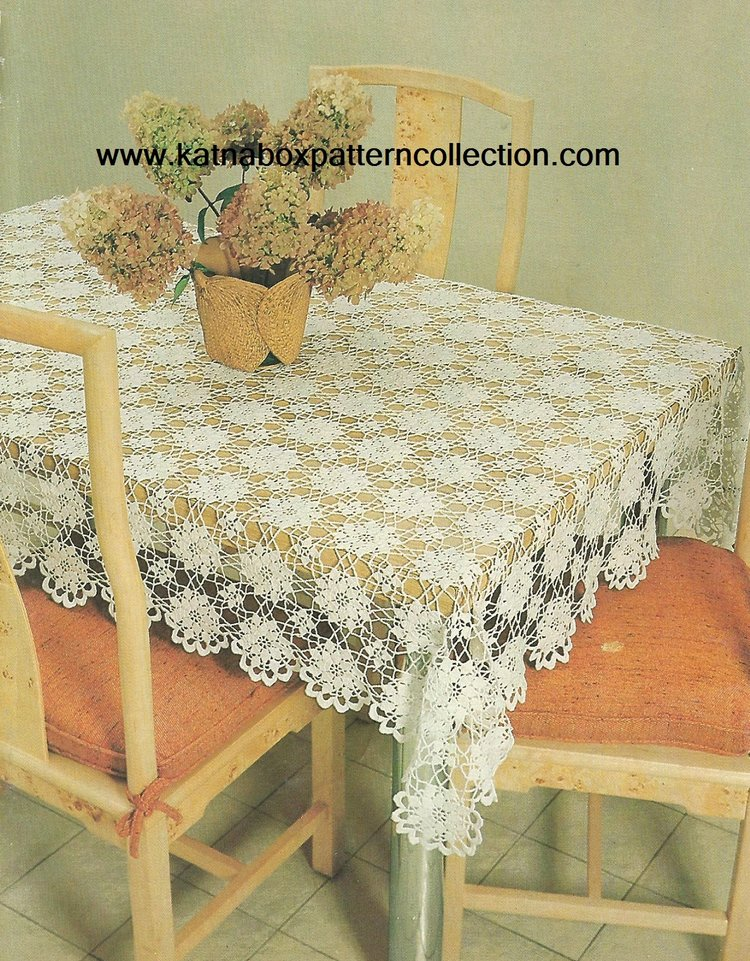 Crochet Queen Annes Lace Tablecloth Pattern Kc1643 Advanced