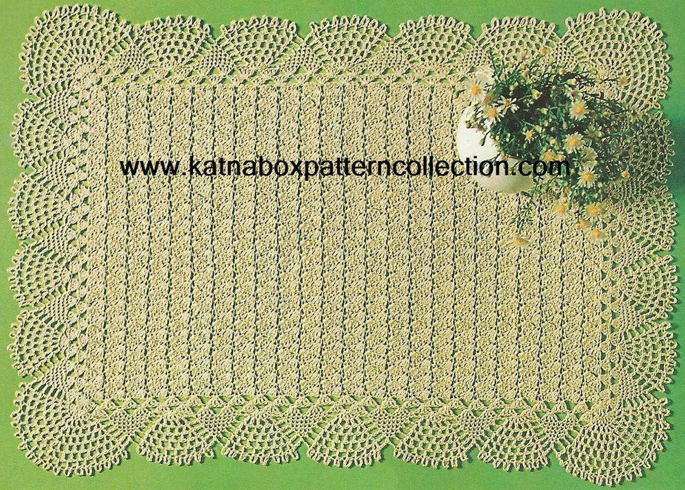 Crochet Rectangular Placemat Pattern Kc1648 Advanced Skill Level