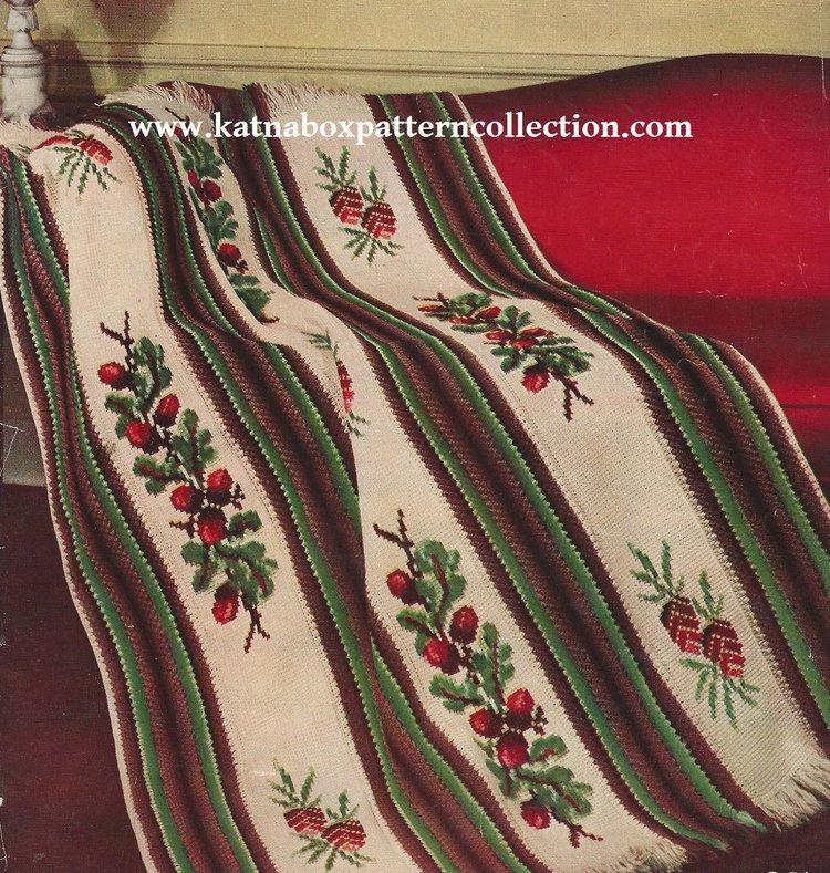 Crochet Jacobean Afghan Pattern Kc1656 Expert Skill Level Crochet