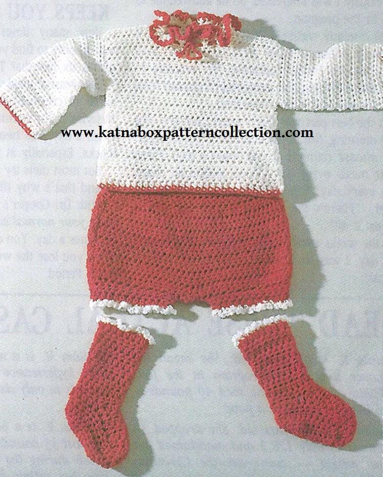 Crochet Babys Romper Set Pattern Kc1657 Intermediate Skill Level