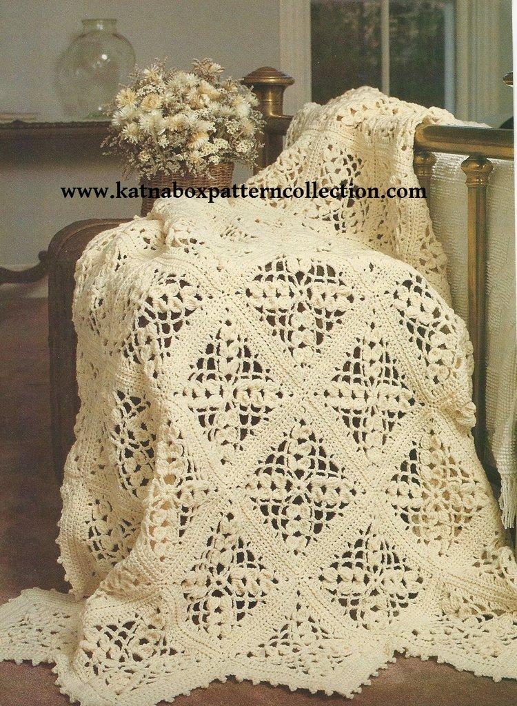 Crochet Victorian Lace Bedspread Pattern Kc1667 Advanced Skill