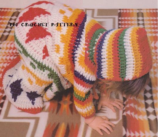 Crochet Babys Rainbow Baby Bunting Pattern Kc1273 Advanced Skill