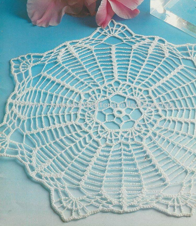 Crochet Lucky Seven Doily Pattern Kc1737 Easy Skill Level