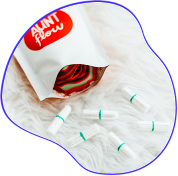Aunt Flow - 100% organic, non-applicator tampons. Buy one give one!