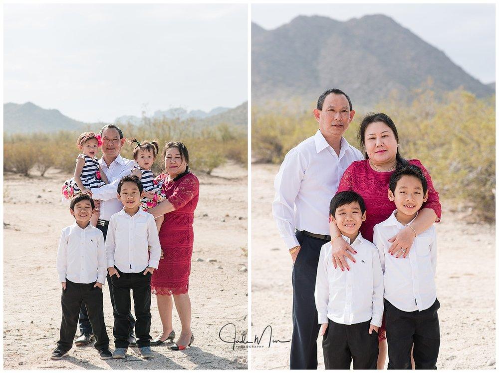 The grandparents with their beloved grandchildren.