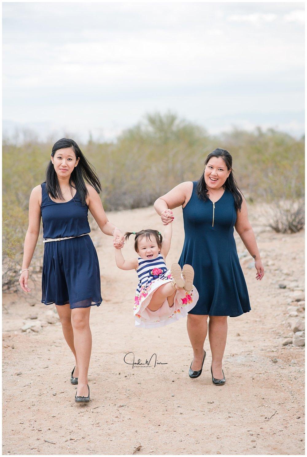 Phanpraseuth & McLawson Families, Photo Session at San Tan Mountain Regional Park in Queen Creek, Arizona.
