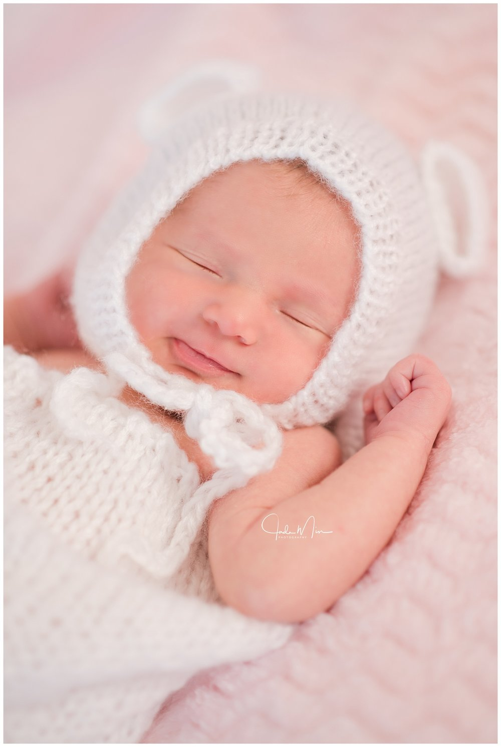 Baby Amelia's newborn session - she is sleeping so peacefully.
