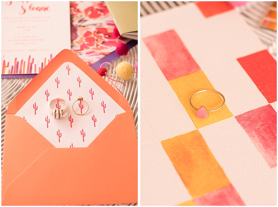 Invitation Suite made by Paige Poppe Art for the 'Party Like There's No Saguaro' photo shoot at The Saguaro Scottsdale.