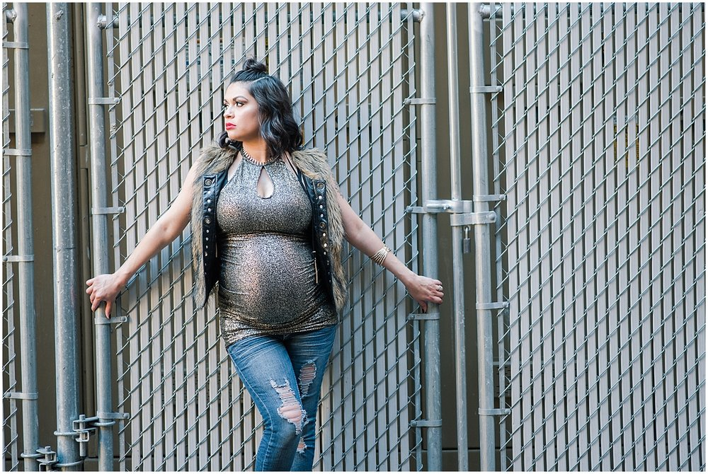Maternity session with beautiful mommy-to-be Angel Christine at downtown Phoenix. Photo taken by Jade Min Photography.