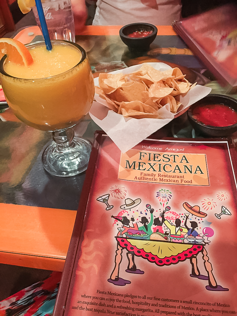Ahh...nothing like cold air conditioning, frozen mango margarita, and yummy chips and spicy salsa to refresh my batteries! We loved this Mexican restaurant - service was great and food was delicious! Side Note:  This is within walking distance from the Grandview Inn.