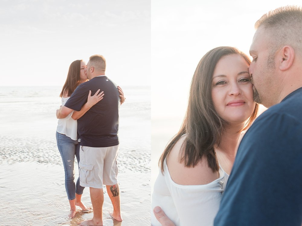 Couple's beach photo session during our trip to Puerto Pensasco (Rocky Point), Mexico in June 2017. Photo taken in front of the Sonoran Sky. Travel photos by Jade Min Photography.
