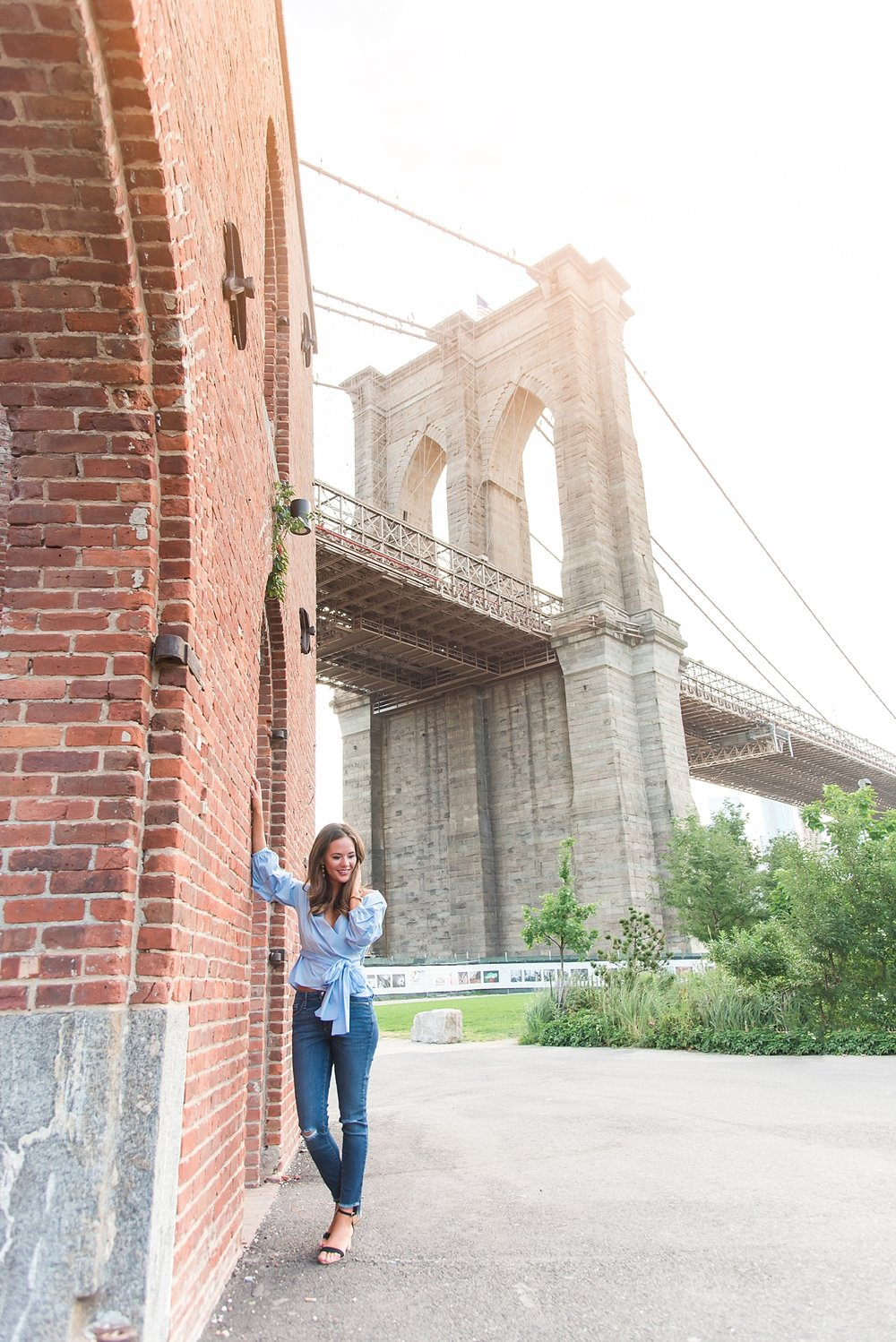 One of my favorite shots from the session - red brick with the Brooklyn Bridge in the background.
