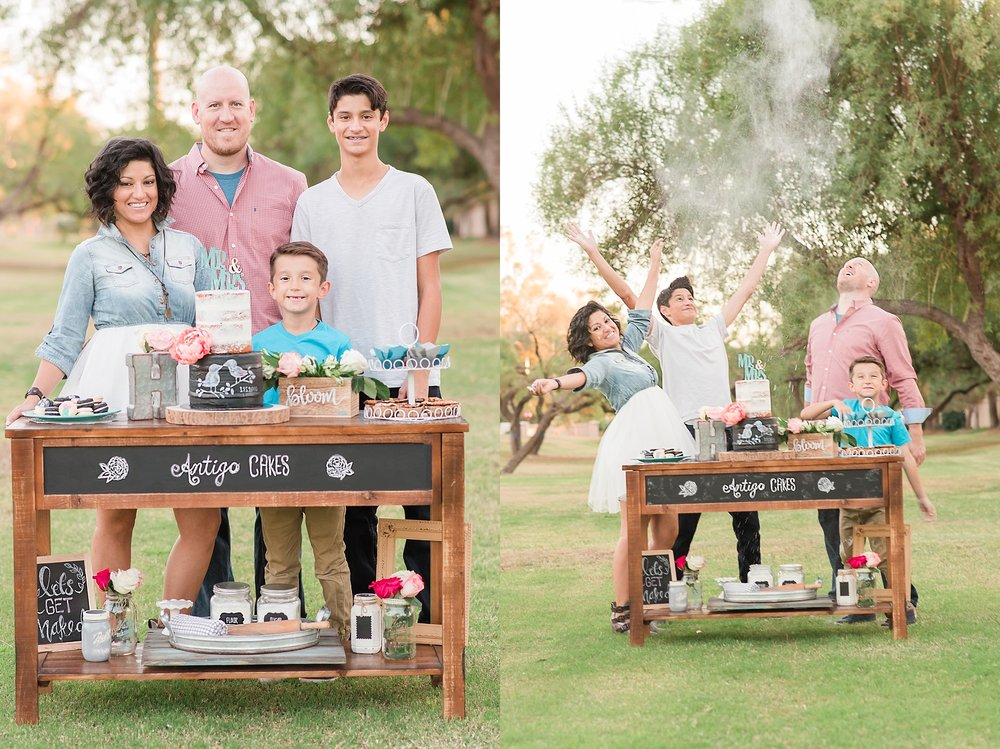 Photo session with Sonia, owner of Antigo Cakes, and her lovely family in Gilbert. Photos by Jade Min Photography.