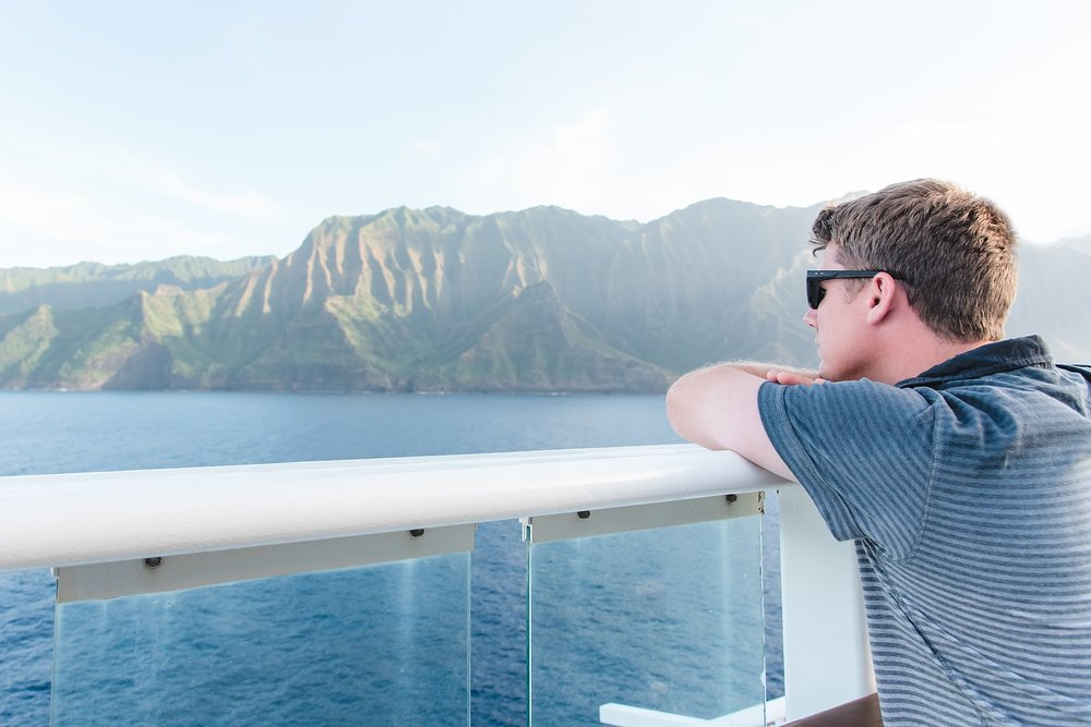 Cruising past the Na Pali Coast while on the Pride of America.