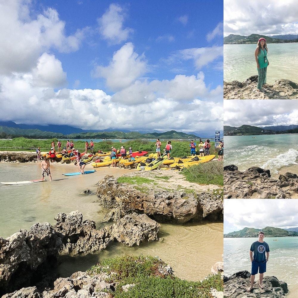 Kayak adventure at Kailua Beach Park in Oahu, Hawaii. Photos by Jade Min Photography.