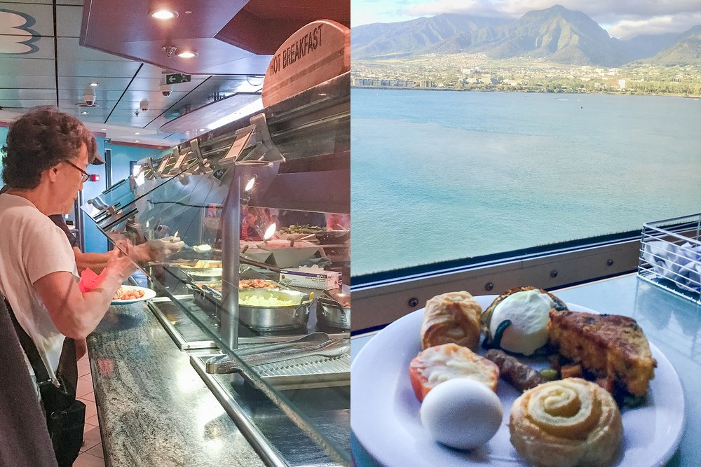 Breakfast at Aloho Cafe on Pride of America cruise ship. Photos by Jade Min Photography.