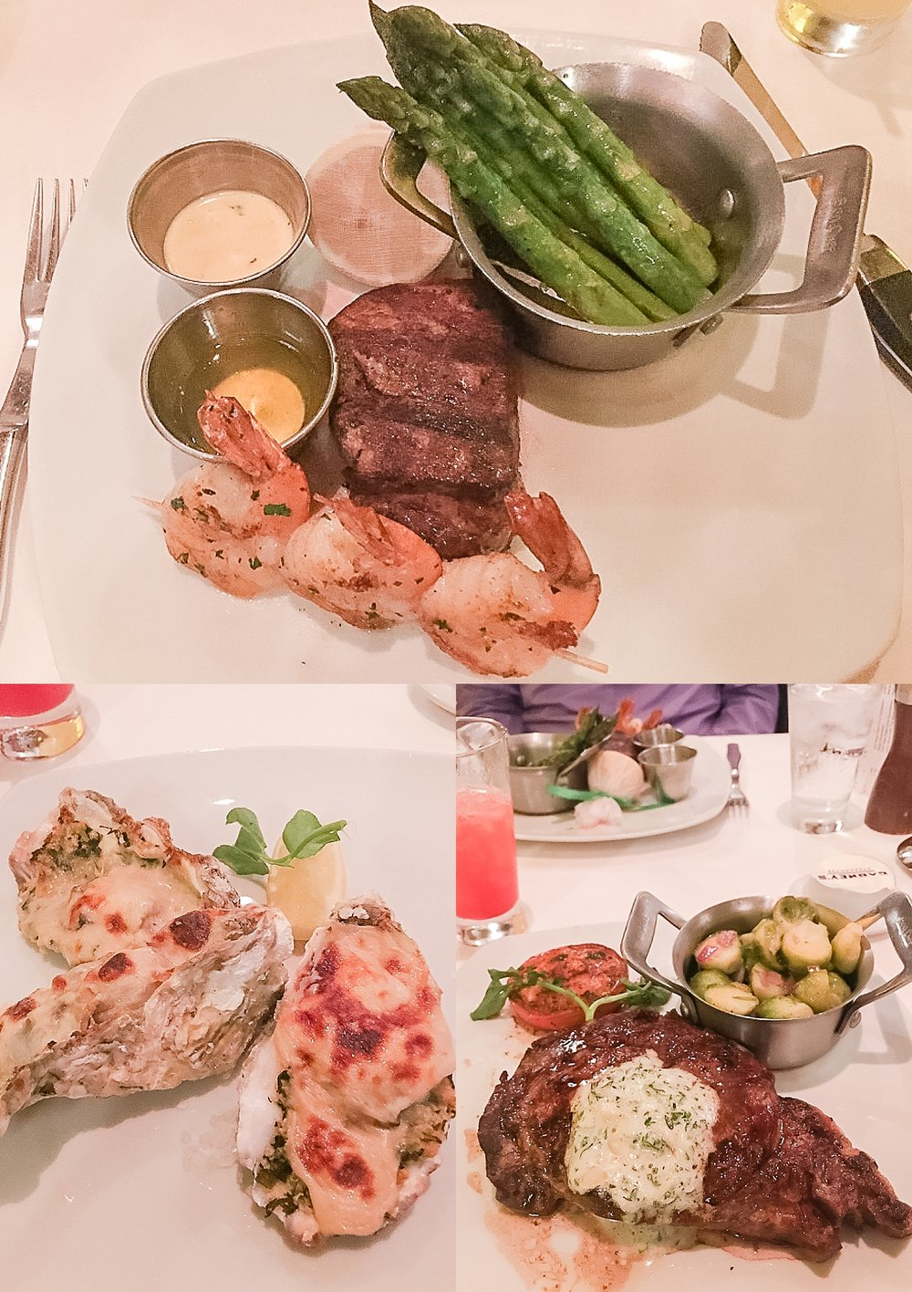 Dinner at Cagney's Steakhouse on the Pride of America cruise ship. Photos by Jade Min Photography.