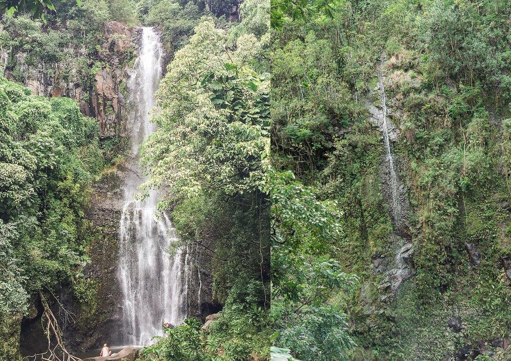 Waterfalls along the road to Hana drive. -