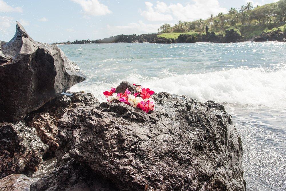 Black Sand Beach at Wai'anapanapa State Park in Maui, Hawaii. Photo by Jade Min Photography.
