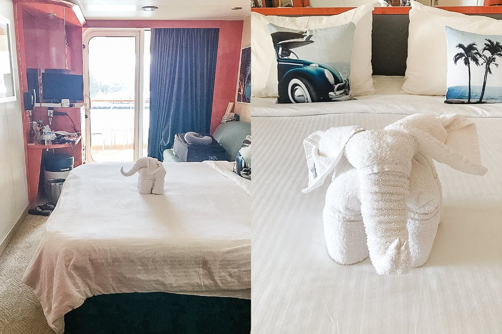 Towel elephant left by our room steward on Norwegian Cruise Line's Pride of America.