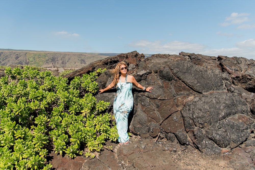 Once you park, it's a short walk to the ocean and the Holei Sea Arch. But first...a photo! -