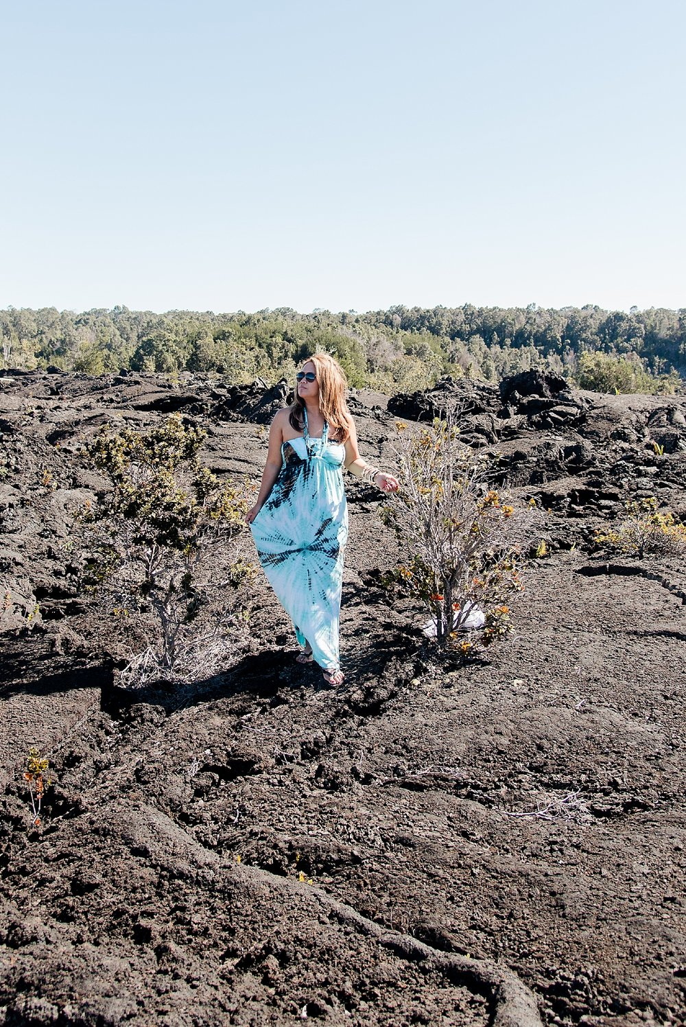 It felt surreal to walk over the cooled lava from past eruptions. -