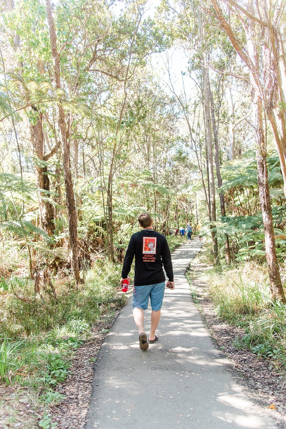 Lovely walk back to the car from the lava tube. Kevin is rocking his souvenir shirt! -
