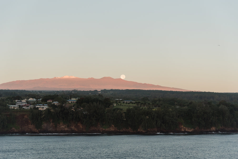 View of one of the volcanoes on the Big Island.