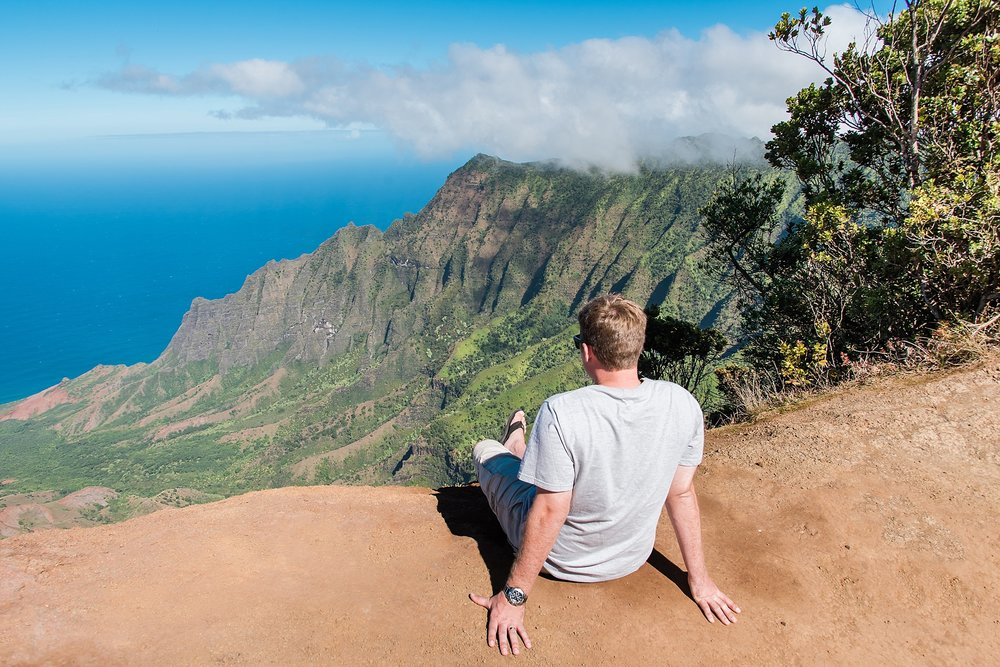 View from the Kalalau Lookout, one of the stops at Waimea Canyon in Kaua'i. Photo by Jade Min Photography.