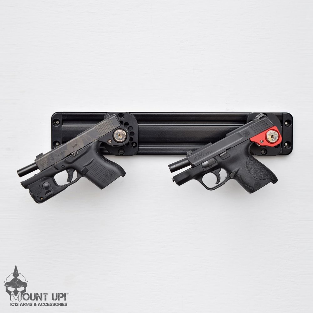 Two Handguns using Handgun Mounts