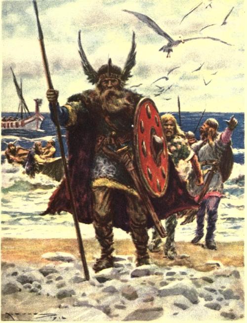 Llegada de Leif Eriksson y sus barbudos a las costas del Nuevo Mundo