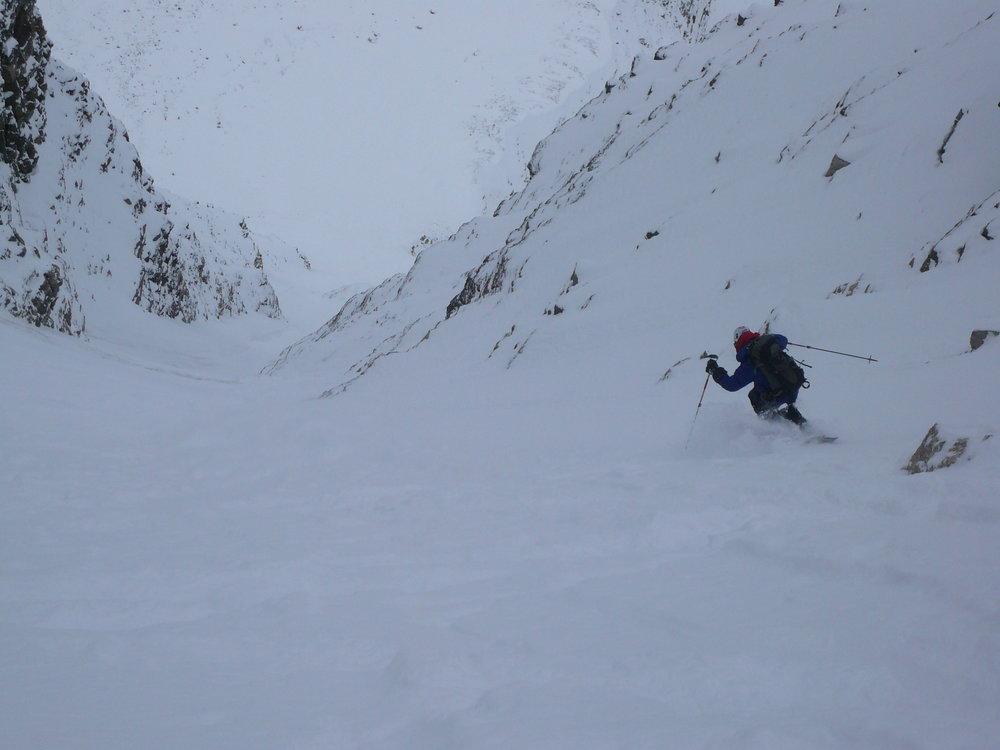Lefebvre skiing Aemmer Couloir
