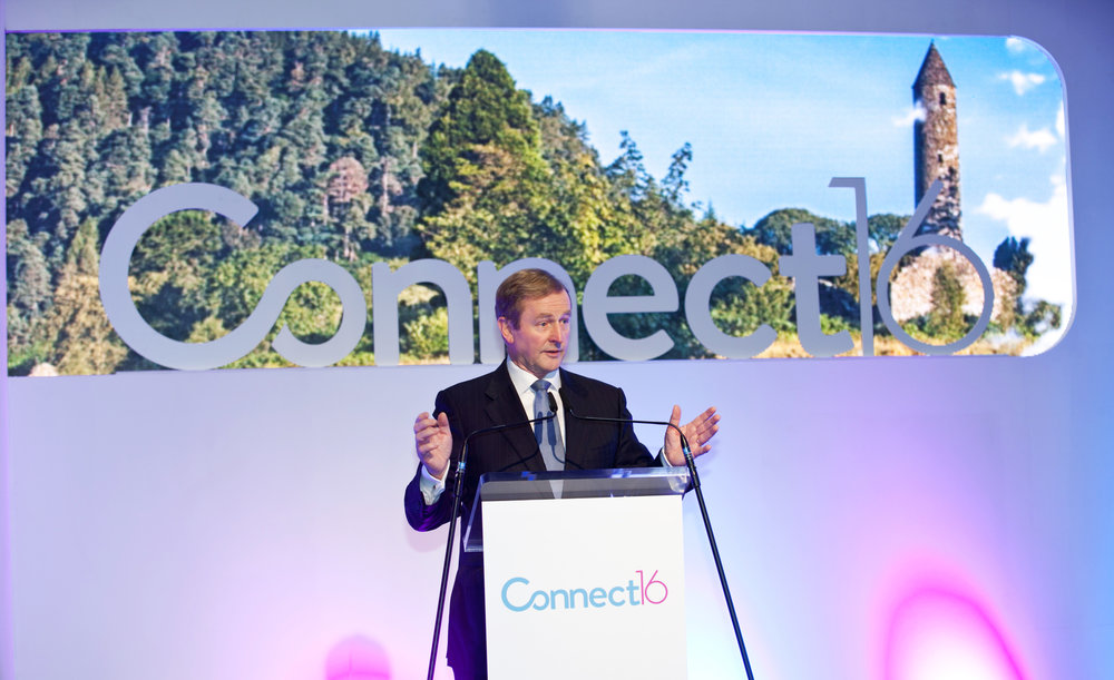 An Taoiseach Enda Kenny TD opening the CONNECT16 conference