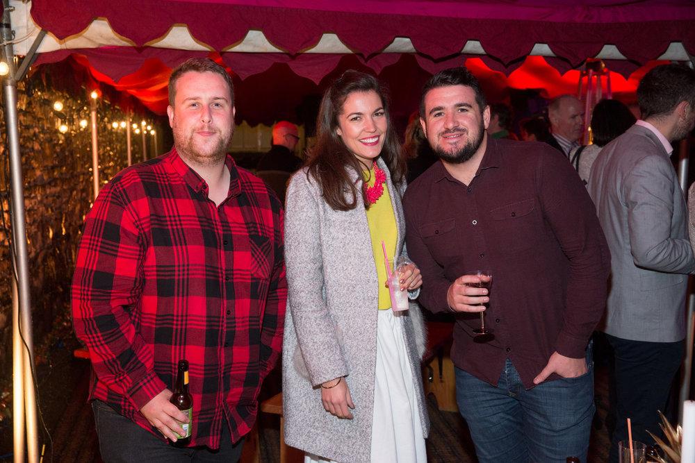 Garreth Mac Namee, Michelle Mc Coy and David Coleman