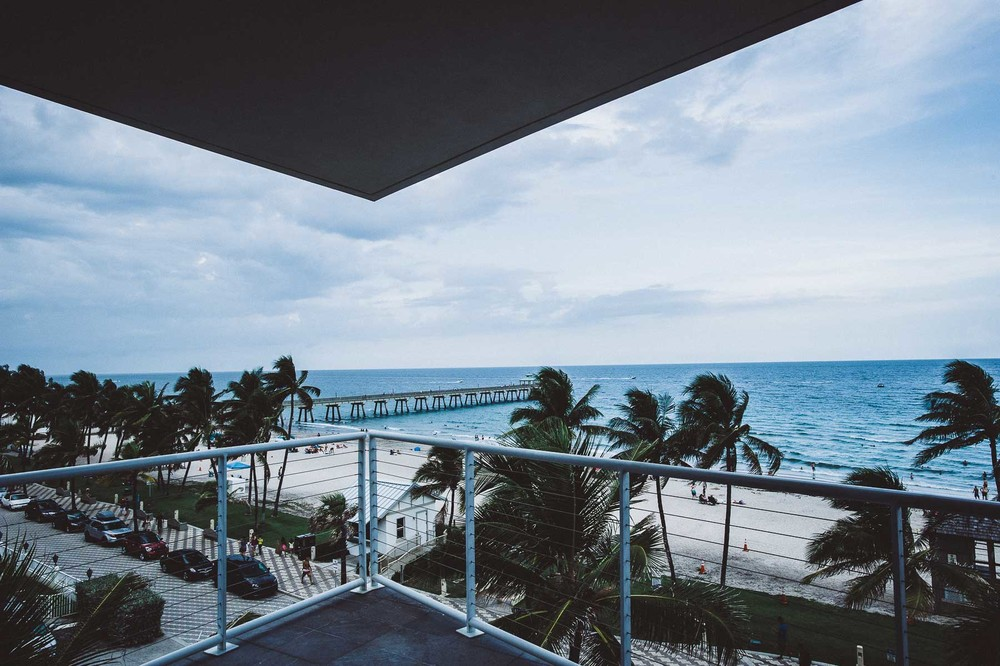 A room with an extraordinary view, overlooking the Deerfield Beach pier.