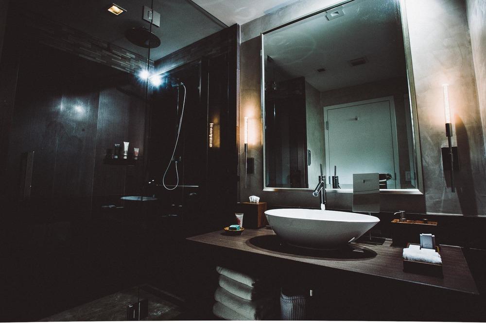 Inside the spa-like bathroom.