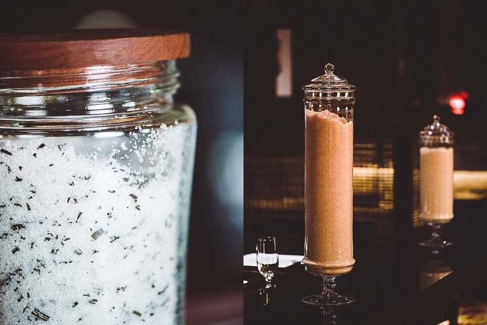Different types of salts at the Ritz-Carlton, Amelia Island, Florida.