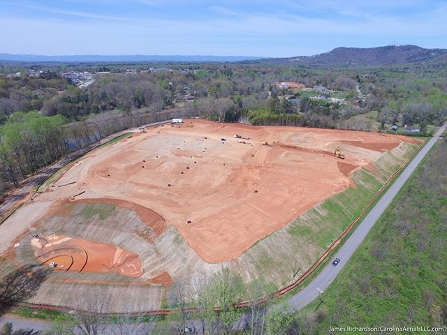 #Drone view: Mutlifamily #construction site in #Greenville, SC. #droneview #dronelife #aerial #aerialphotography #djiinspire