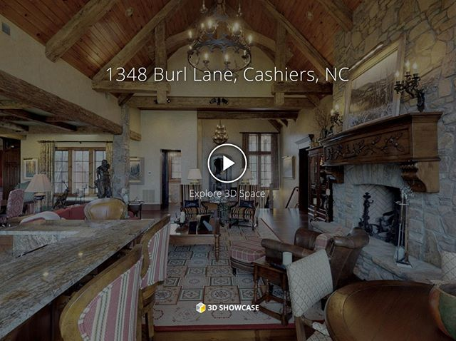 Take a #Matterport 3D virtual tour of landmark_realty_group's spectacular, 6500 s.f. custom home in #Cashiers, #NorthCarolina. Link in bio.