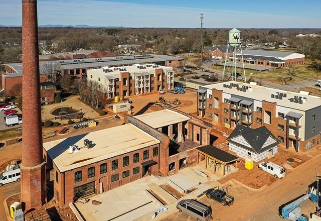 #Droneview: Cotton Mill Commons, #Simpsonville, SC | #drone #aerial #aerialphotography #underconstruction