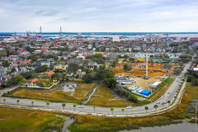 #Droneview: @JasperCharleston  under construction in #Charleston. #drone #aerial