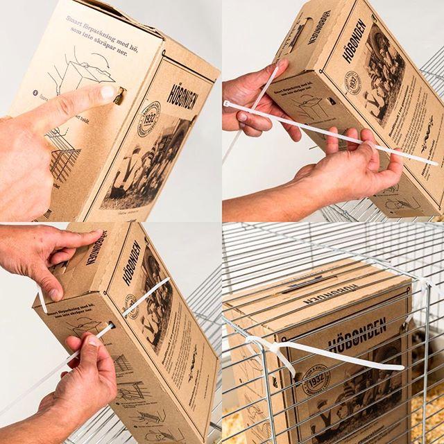 Höbondens guide till ett annat sätt att fästa automaten, nämligen med hjälp av antingen snören eller spännband! Därmed går det även att fästa automaten i ett nät eller i en hage utomhus🍀☀️🙌🏻🐰