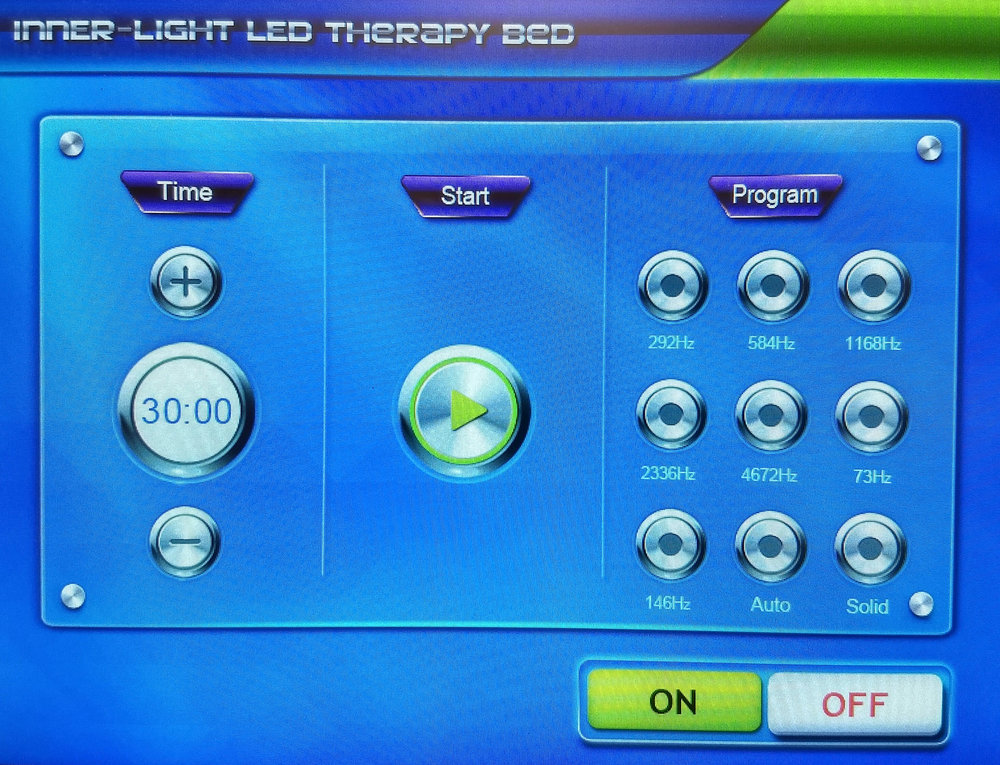 The programs and controls of the Light Bed