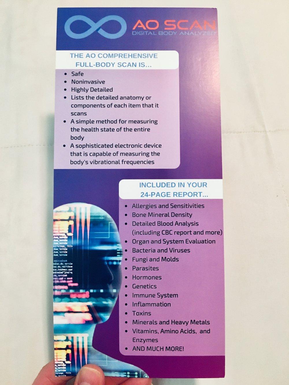 AO scan brochure