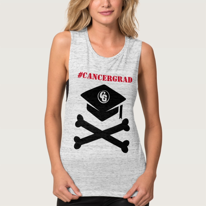 CancerGrad_Cap_and_Crossbones_Shop_Cancer_Grad_Tank_Top_Women