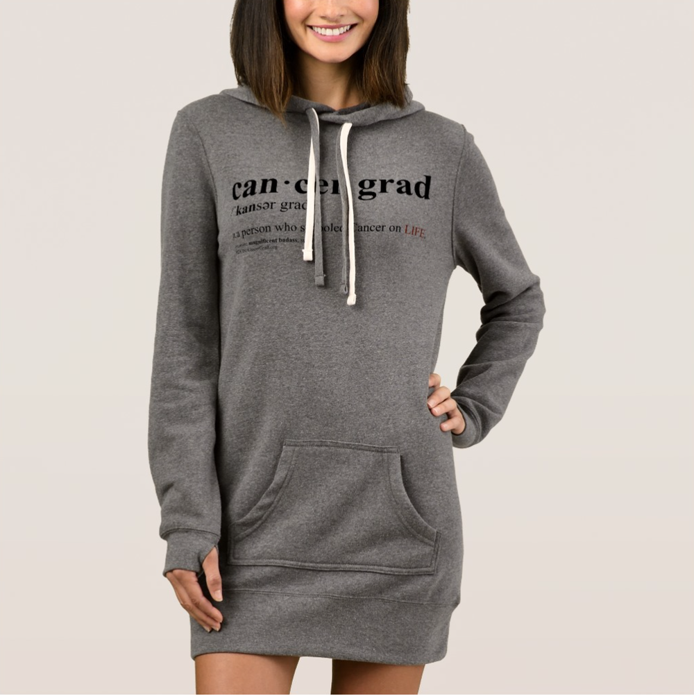 CancerGrad Hoodie Dress Definition Cancer Grad